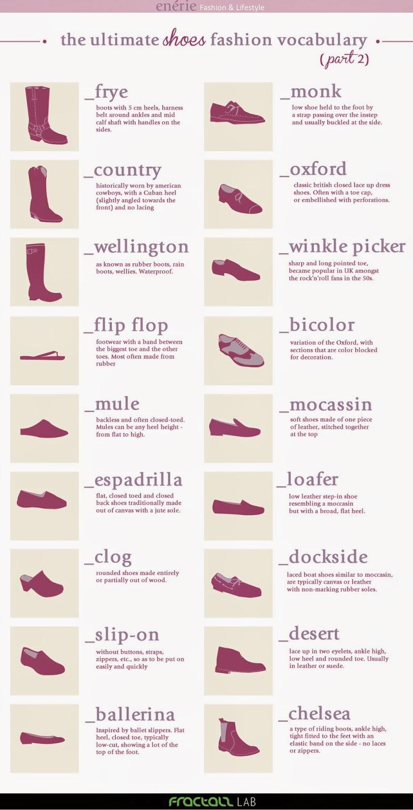 Tipo de zapatos infografias