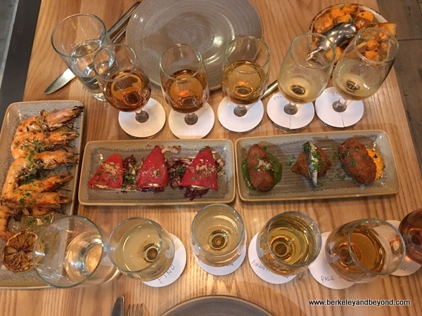 tapas and sherry flights at La Marcha in Berkeley, California