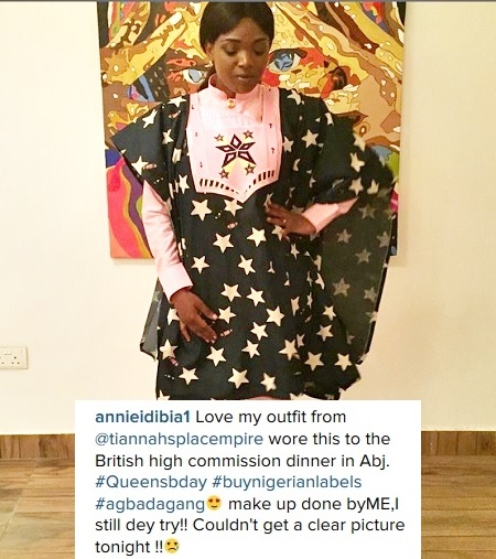 Celeb Couple, 2Baba & Annie Idibia Rock Agbada in Style for a Dinner (Photos)