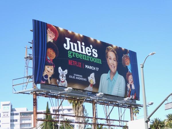 Julies Greenroom series launch billboard