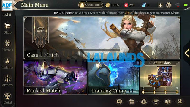 Download Garena Arena Of Valor 1.19.1.1  Versi Asia Full OBB