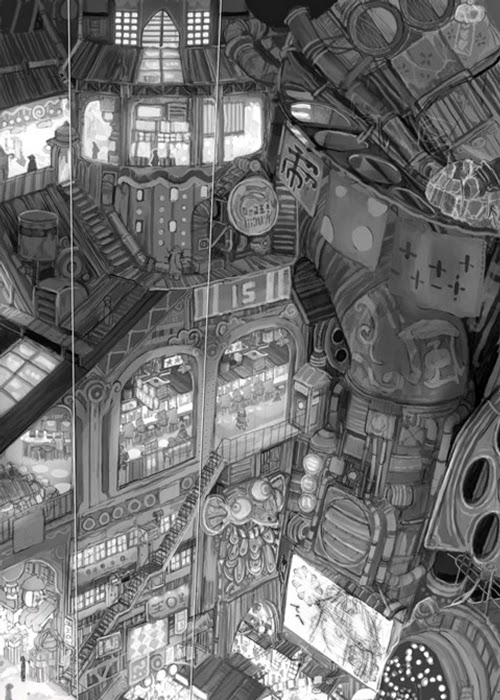 03a-Teikoku-Shounen-Architectural-Drawings-in-Color-and-Black-and-White-www-designstack-co