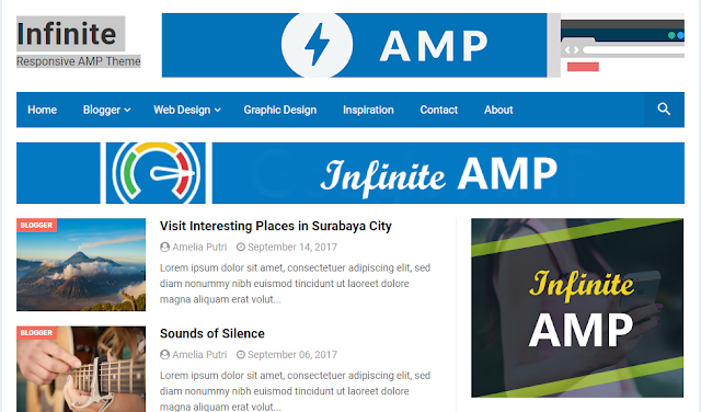 Best Google AMP Blogger Template 2019