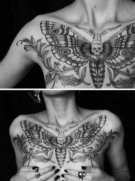 Breastplate Females Chest Tattoos Best Tattoo Ideas