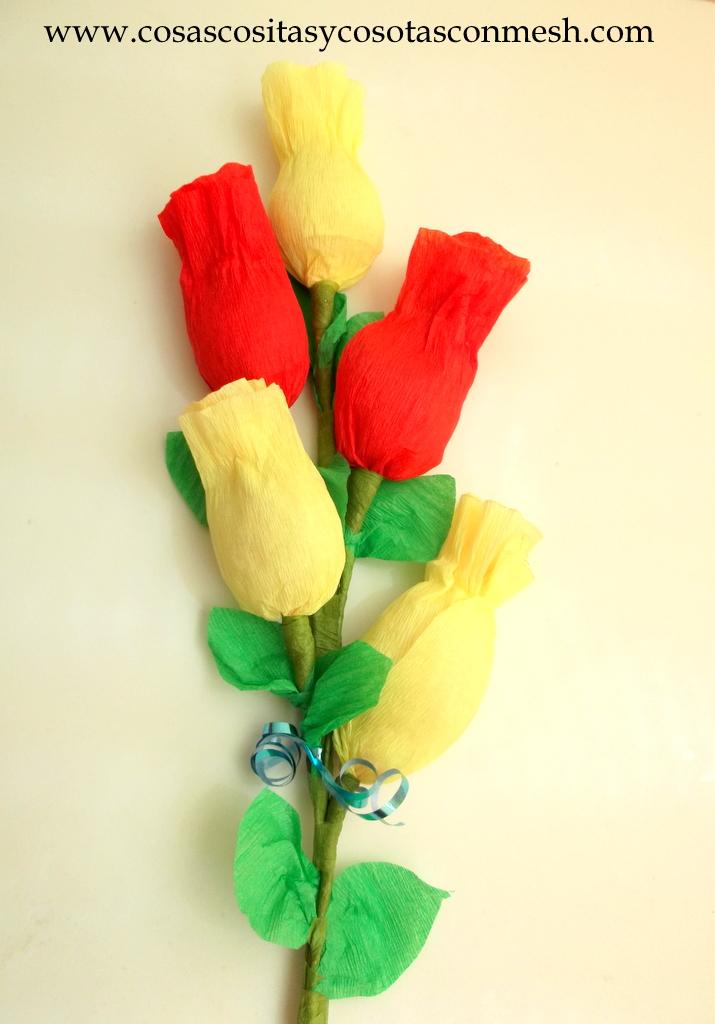 Como Hacer Rosas De Papel Crepe Paso A Paso Clic Aqu Rosas De Papel