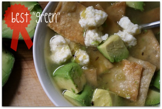 Quick and Easy Green Tortilla Soup