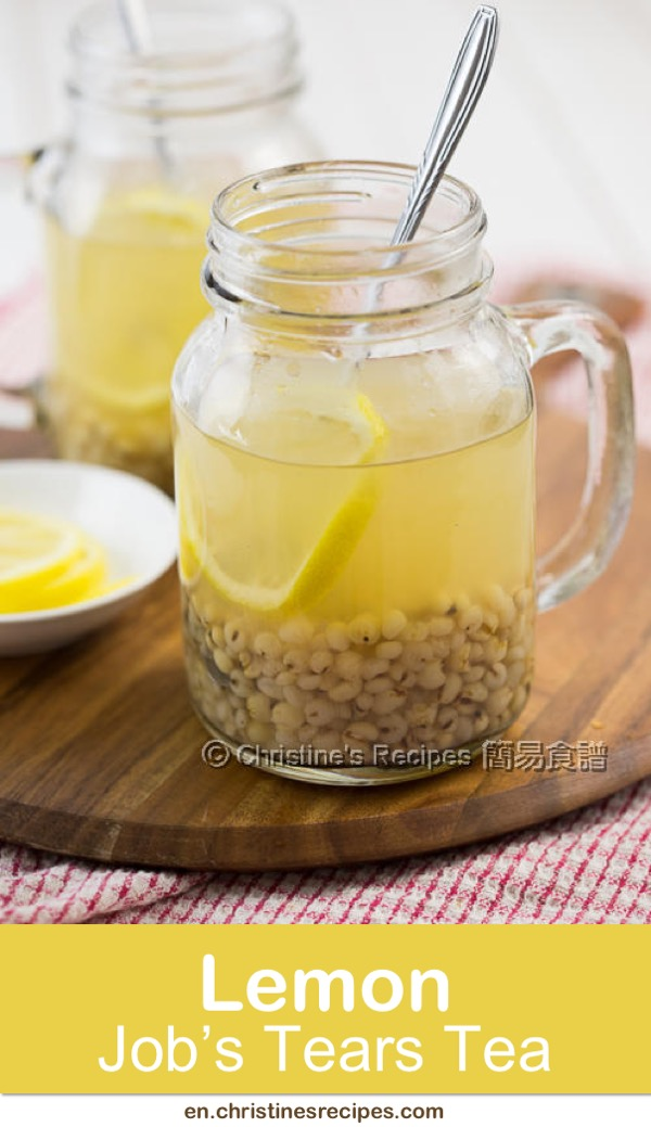 Lemon Job's Tears Drink, full of health benefits and lemony aroma, simple recipe