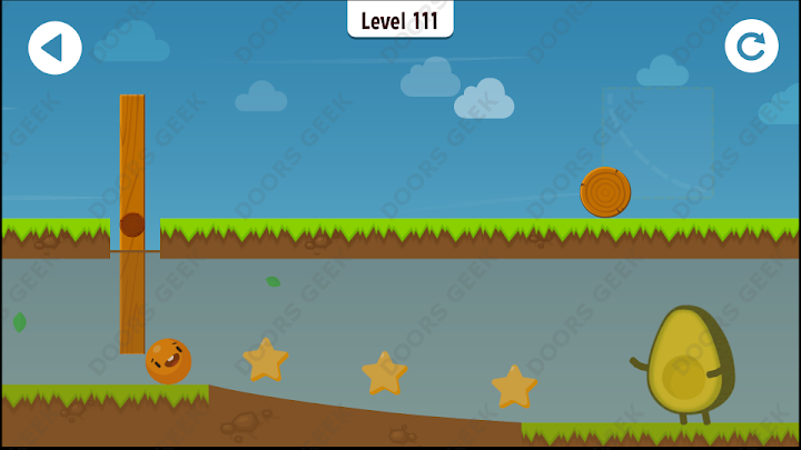 Where's My Avocado? Level 111 Solution, Cheats, Walkthrough, 3 Stars for Android, iPhone, iPad and iPod