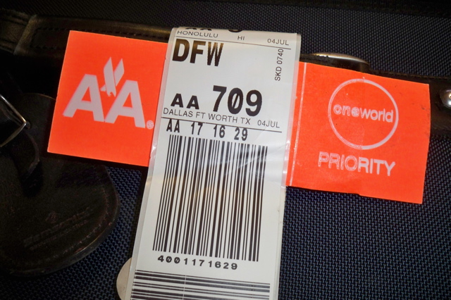 Priority Tag: The Hopeful Traveler: Priority Baggage Delivery On