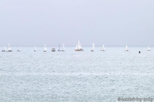 New Year's Regatta, Napier Sailing Club, Napier, on Hawke Bay, pictured from Perfume Point, Napier. photograph