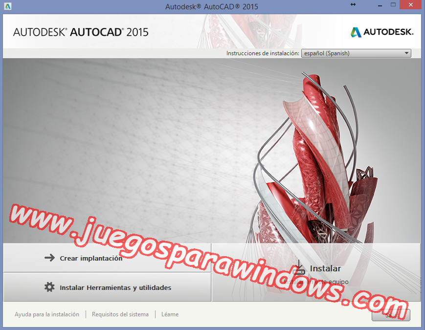 AutoCAD 2015 Full PC ESPAÑOL INGLES 32 y 64 Bits (XFORCE) 1