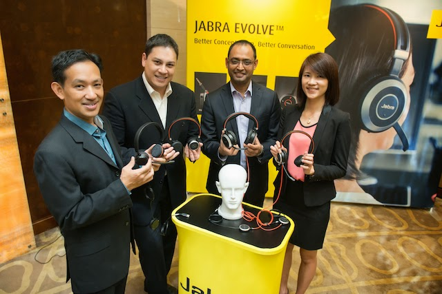 At the launch of Jabra Evolve