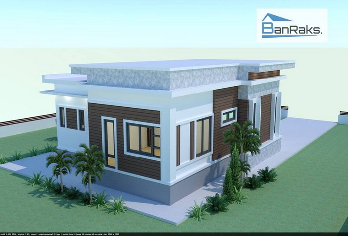 Single storey house is perfect for small families, young couples, couples with children, and to any homeowner that just simply wants a single story for their house. If you want a single storey house check these plans below. These houses consist of 2 bedrooms, 1 bathroom, build under 104 square meters of living space.