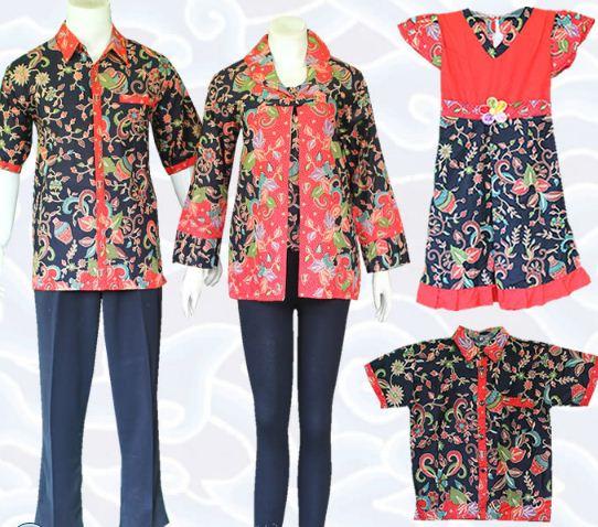 10 Model Baju Batik Keluarga Modern Terbaru 2018