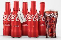 Garrafinhas de metal Coca-Cola com copo grátis!