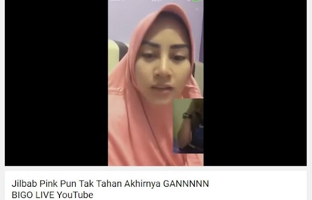 WOW, JILBAB PINK PUN TAK TAHAN DI BIGO LIVE DAN AKHIRNYA