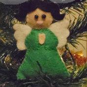 ángel de fieltro