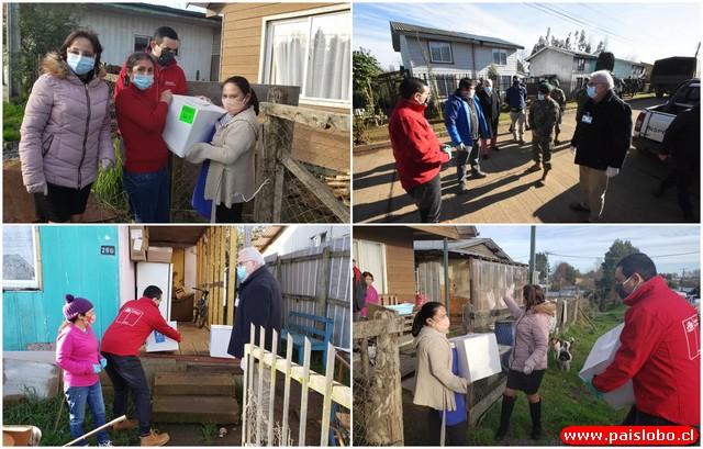 Familias de San Pablo y Puyehue recibieron primeras cajas de alimentos