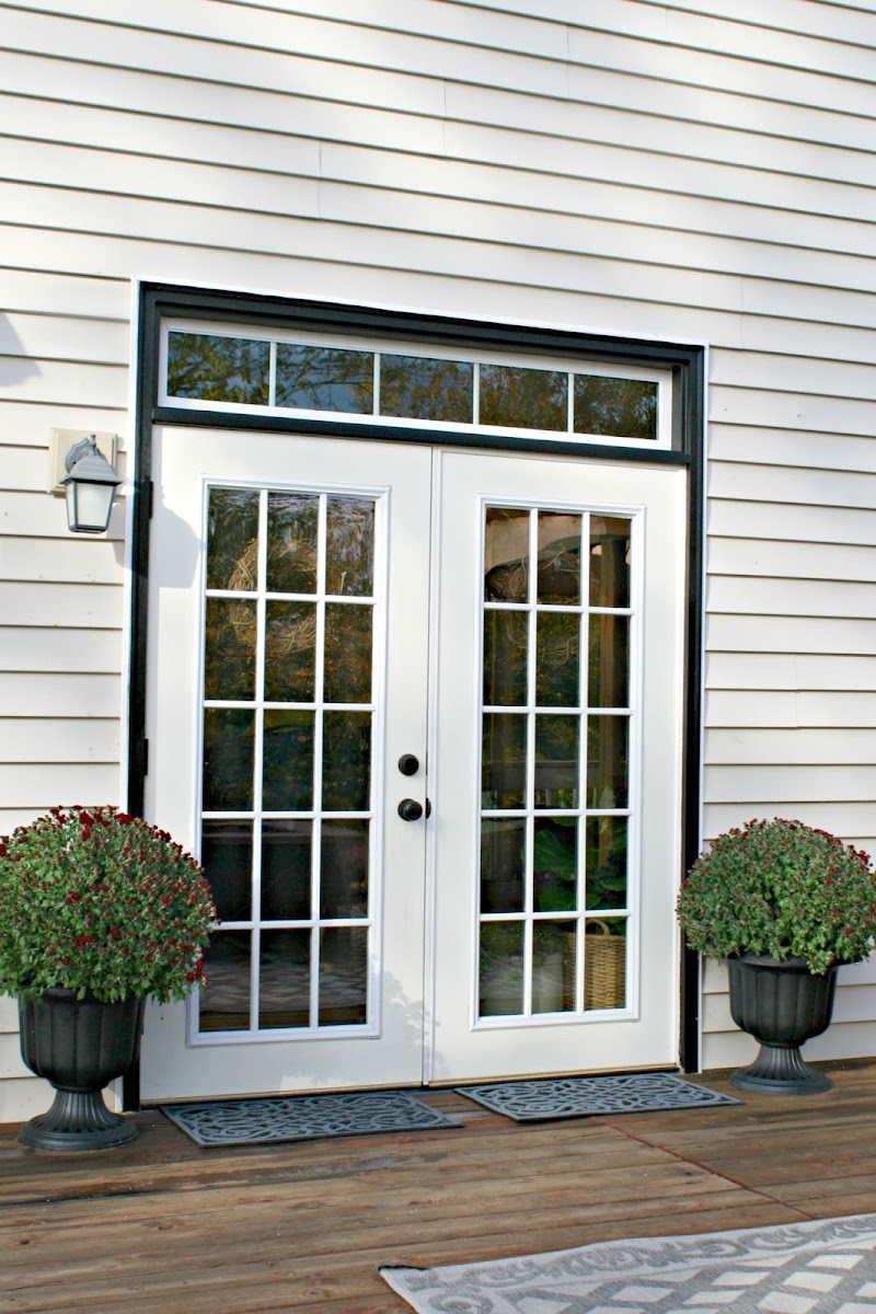 black trim around door
