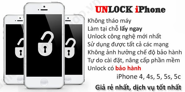 unlock iphone 5s và 5c
