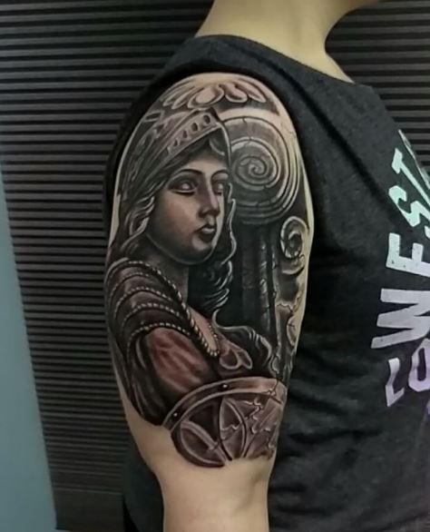Goddess Tattoo For Woman: 50 Greek Tattoos Inspired From Ancient Mythology (2018