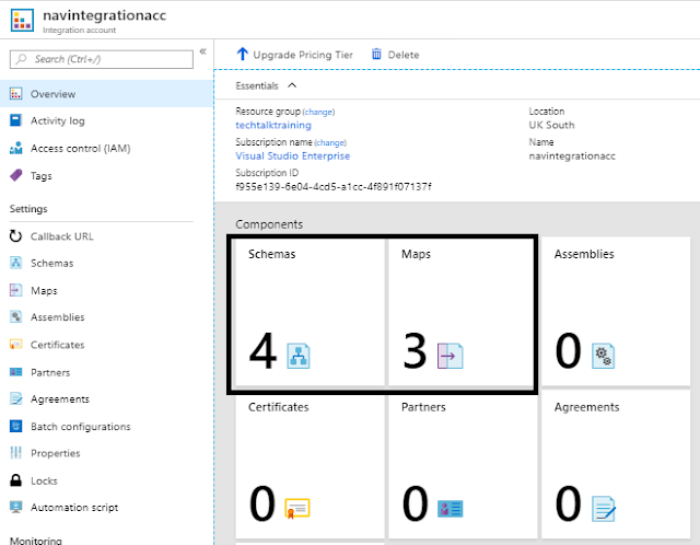 Schema & Map Component to be configure on Azure Integration Account for Validations & Transformations.