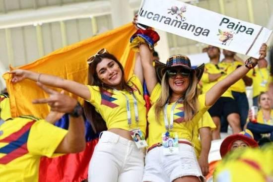 Suporter cantik Kolombia piala dunia 2018
