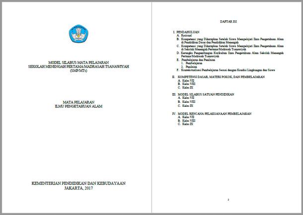 Silabus RPP IPA SMP MTs Kurikulum 2013 Kelas VII, VIII, IX