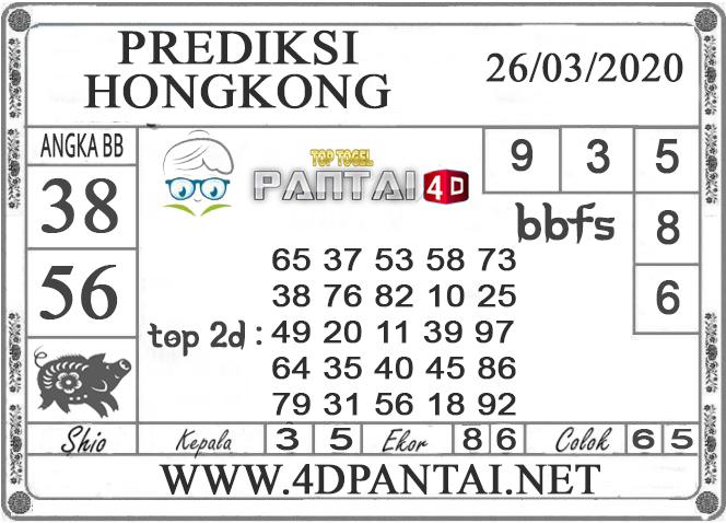 PREDIKSI TOGEL HONGKONG PANTAI4D 26 MARET 2020