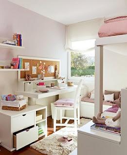 Dormitorio juvenil chicas rosa