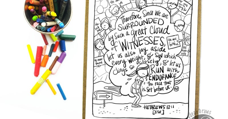 Surrounded by witnesses a Hebrews