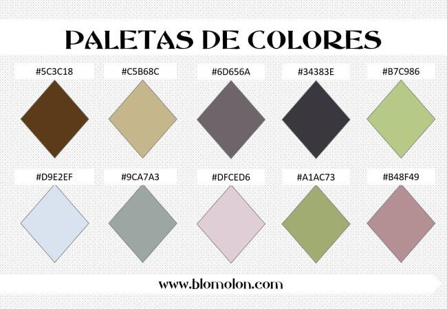 paleta de colores 3 combinaciones