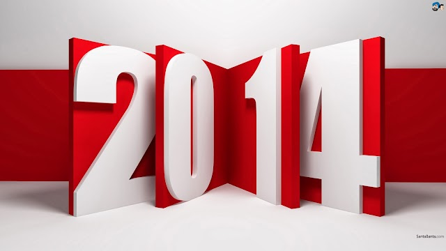 New Year 2014 Greetings Card 3D