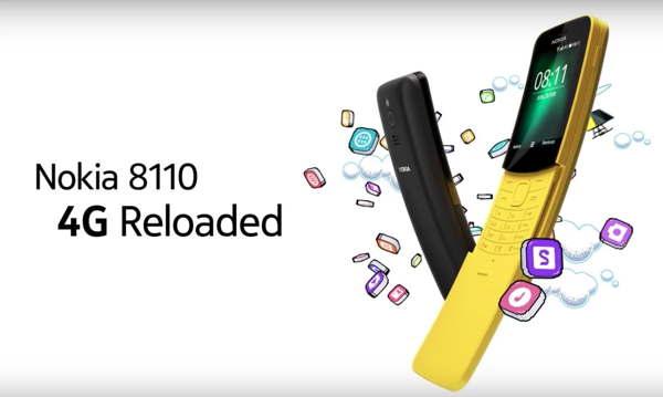 nokia banana 4g flip mobile