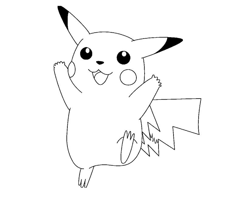 Pikachu 8 coloring crafty teenager for Pikachu coloring pages printable
