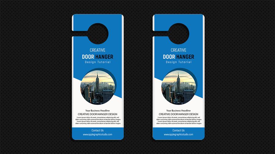 Business Door Hanger Design - Adobe Illustrator Tutorial - Apple