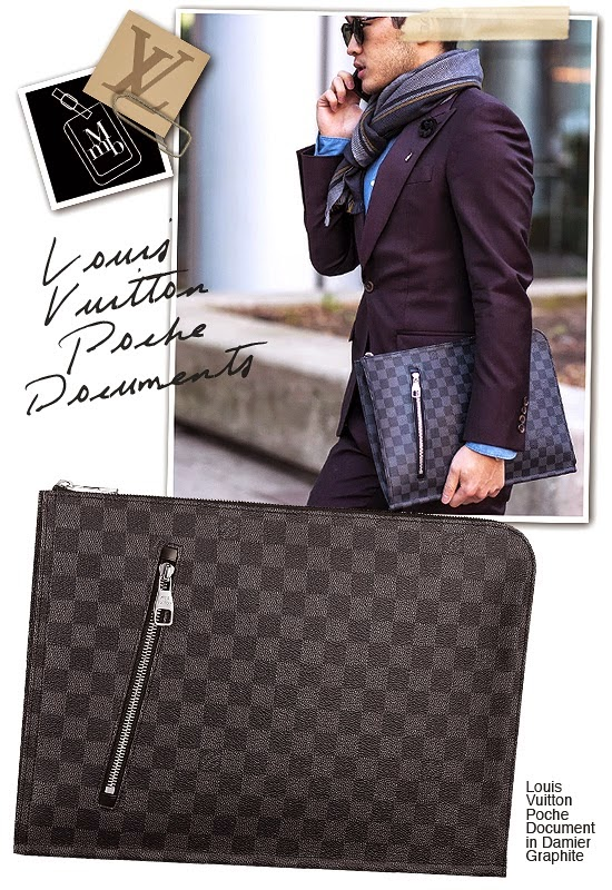 358ac1a69f17 Louis Vuitton Poche Documents In Damier Graphite