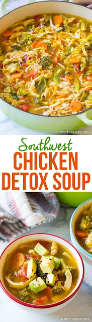 Southwest Chicken Detox Soup
