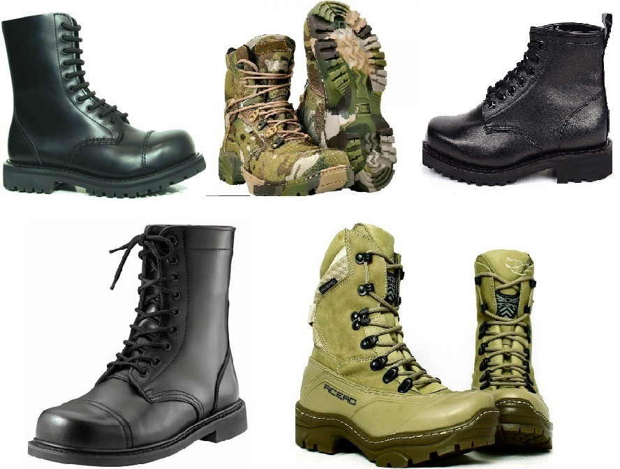 1e1767793 Bota militar: esse é o tipo de calçado mais usado para qualquer atividade  ao ar livre no Brasil. Geralmente equipamentos militares são sinônimos de  boa ...