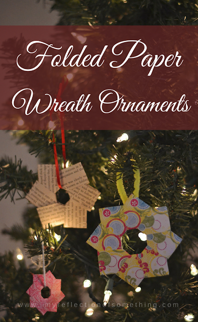 Folded Paper Wreath Ornament Craft Tutorial