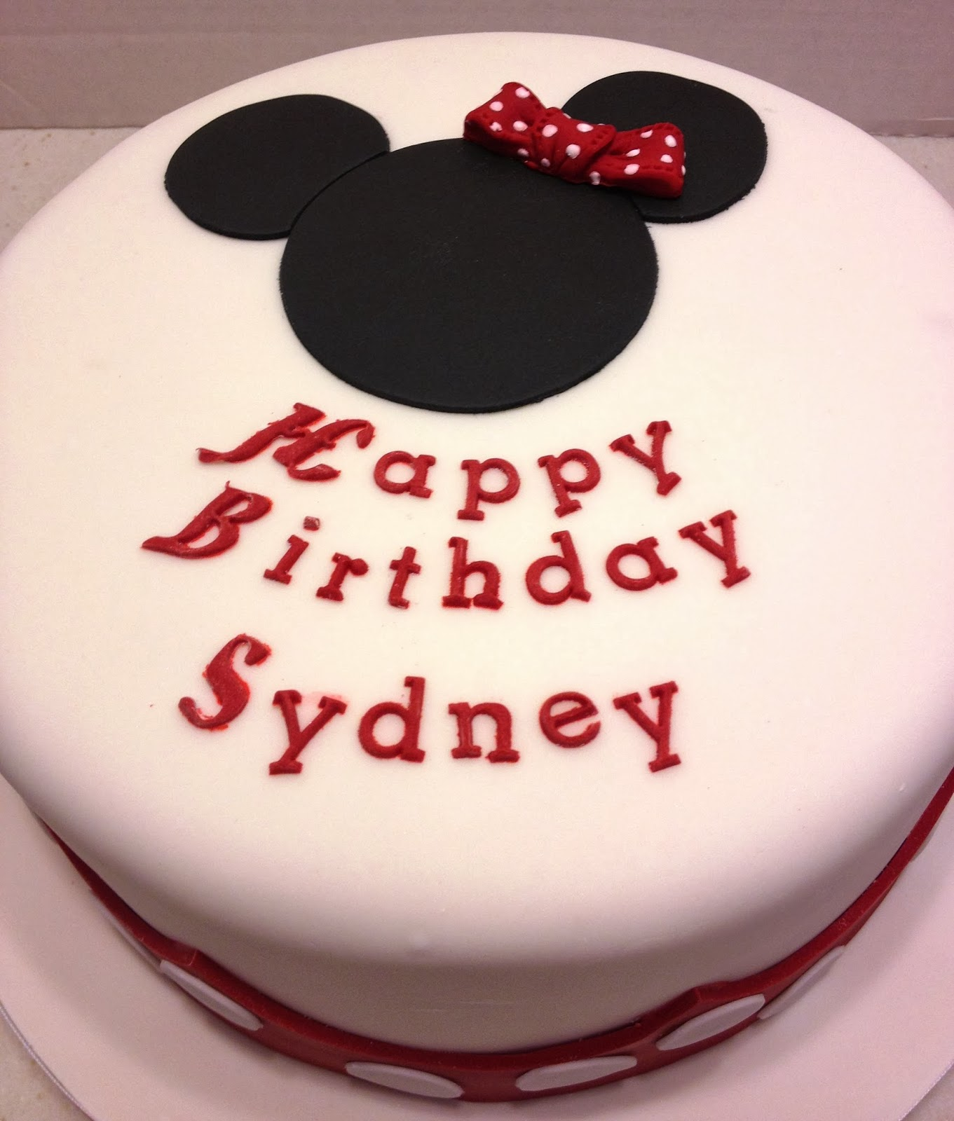 MaryMel Cakes: A Minnie 2nd Birthday