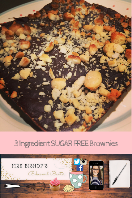 3 ingredient sugar free brownies