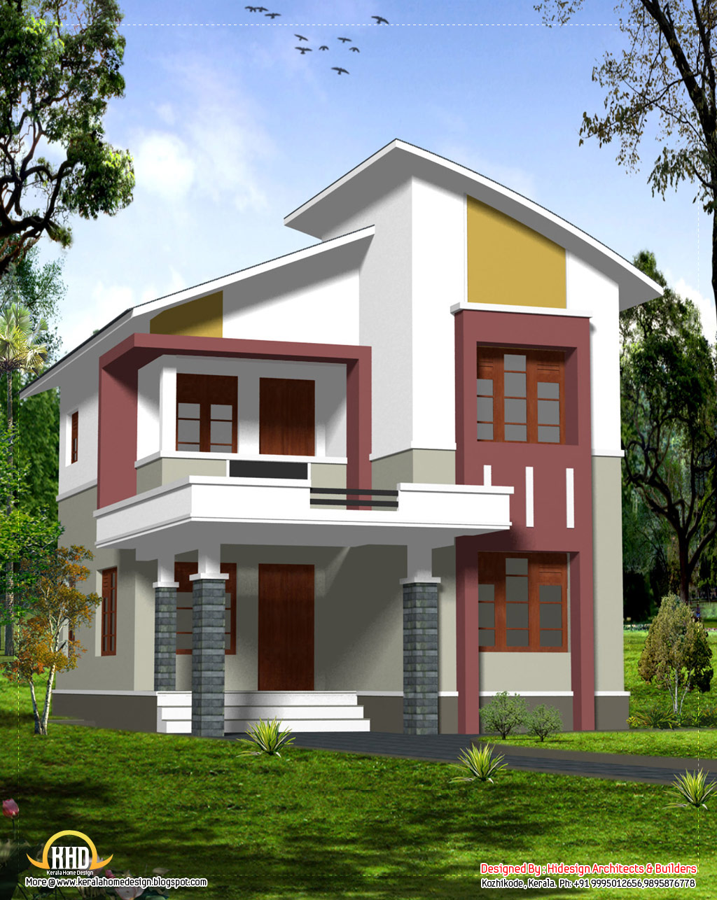 Budget home design 2140 sq ft kerala home design and for Window design for house in india