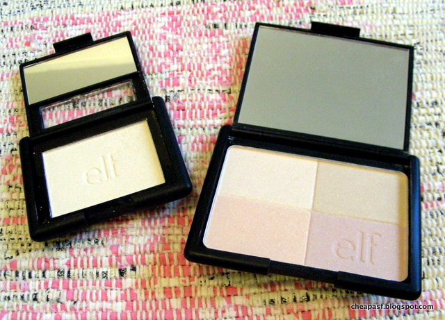 e.l.f. Studio Blush in Gotta Glow! and e.l.f. Studio Tone Correcting Powder in Shimmer