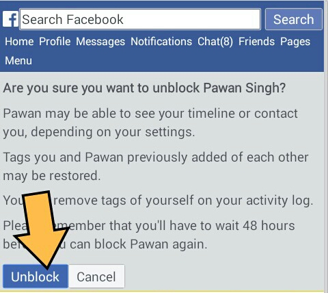 how to add unblock friend in facebook
