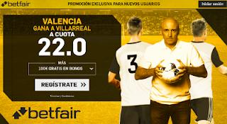 betfair supercuota Valencia gana a Villarreal 23 diciembre