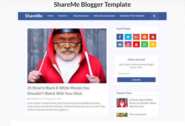 ShareMe Blogger Template