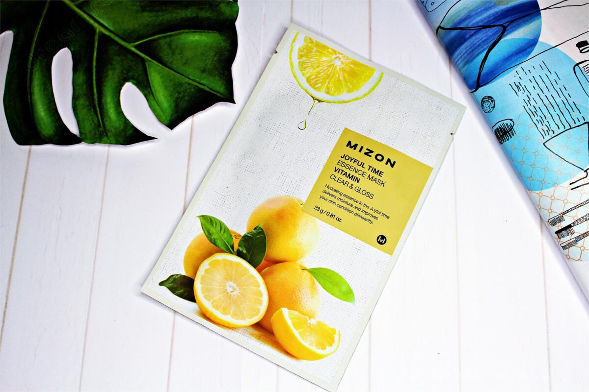 Mizon Joyful Time Essence Mask - oczyszczająca maseczka w płachcie