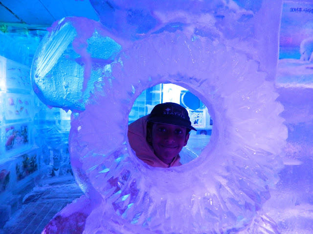 Lots of ice sculptures in Seoul