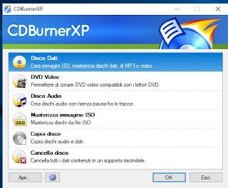 Programma CDBurnerXP